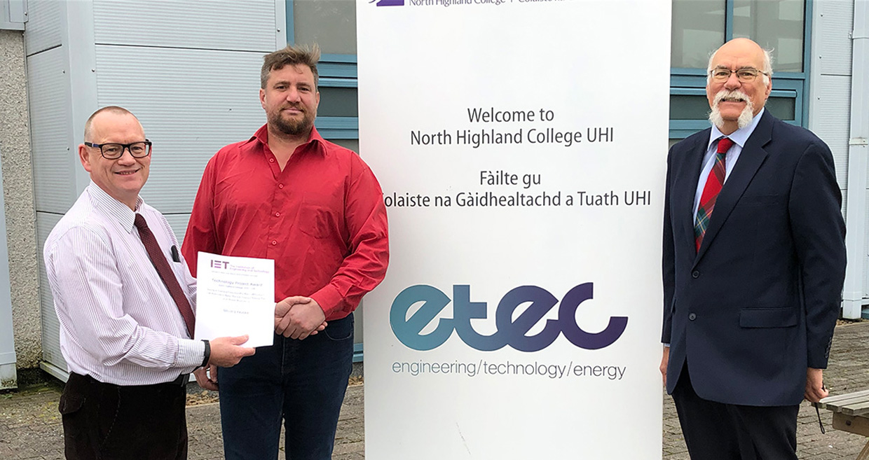 Engineering student Gilles wins outstanding project award