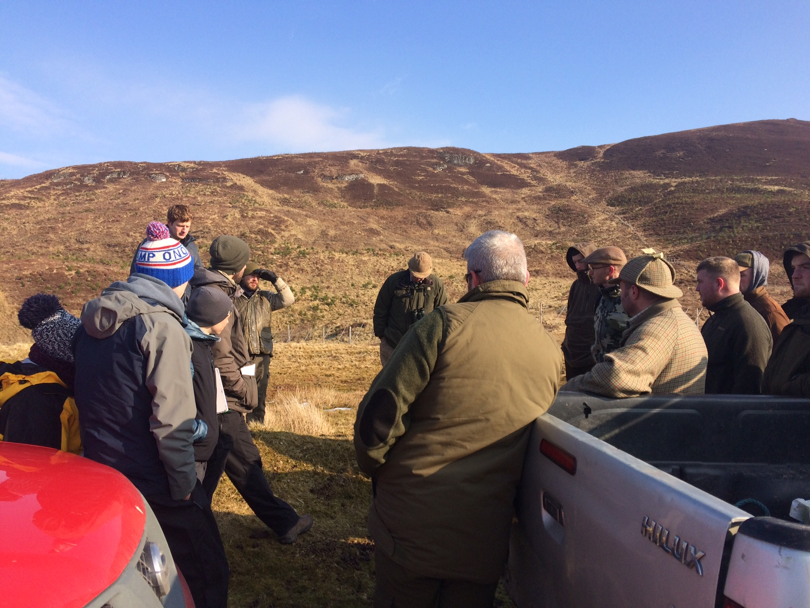 Gamekeeping and Forestry students come together on Strathvaich Estate